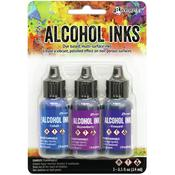 Indigo/Violet Spectrum Alcohol Ink .5oz 3/Pkg - Tim Holtz - PRE ORDER