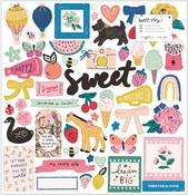 Sweet Story 12 x 12 Chipboard Sticker Sheet - Maggie Holmes