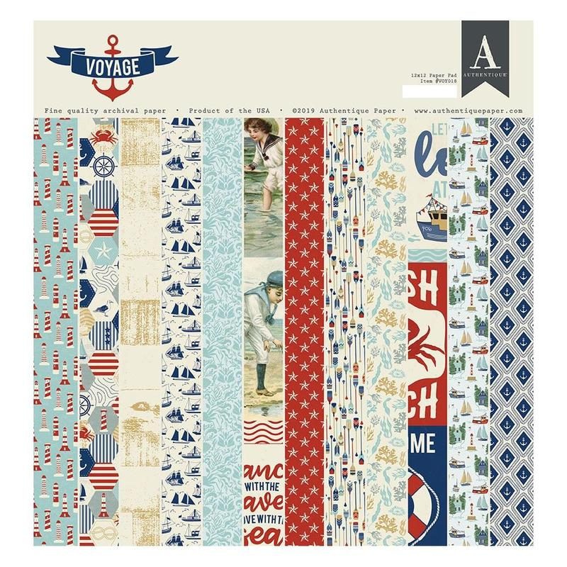 Voyage 12 x 12 Paper Pad - Authentique - Voyage