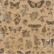 Butterflies Paper - Botanical Journal - Bo Bunny