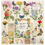 Botanical Journal 12 x 12 Chipboard Stickers - Bo Bunny - PRE ORDER