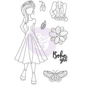 Willow Prima Marketing Julie Nutting Mixed Media Cling Rubber Stamp