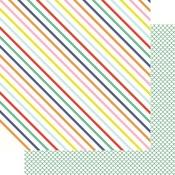 Happy Stripes Paper - Vitamin Sea - Fancy Pants