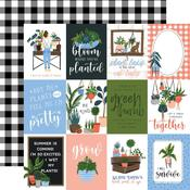 """Journaling 3""""X4"""" Cards Paper - Plant Lady - Echo Park"""