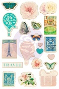 Capri Collection Wood Stickers - Prima