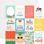 Journaling 3X4 Cards Paper - Summertime - Echo Park