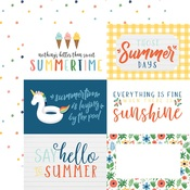 Journaling 6X4 Cards Paper - Summertime - Echo Park