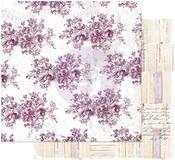 Floral Toile Paper - Pretty Mosaic - Prima