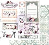 Beautiful Life Paper - Pretty Mosaic - Prima
