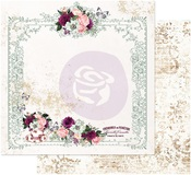 Tea And Roses Paper - Pretty Mosaic - Prima