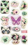 Pretty Mosaic Wood Stickers - Prima