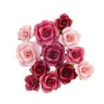 Red Quartz Flowers - Pretty Mosaic - Prima