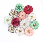 Turquoise Flowers - Pretty Mosaic - Prima
