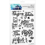 Encouraging Words Clear Stamps - Simon Hurley