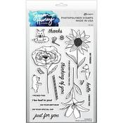 Flower Picking Friends Clear Stamps - Simon Hurley