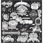 Tuxedos & Tiaras Chipboard Stickers - Bo Bunny