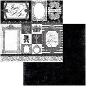 Black Tie Paper - Tuxedos & Tiaras - Bo Bunny