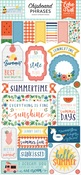 Summertime Chipboard Phrases - Echo Park - PRE ORDER