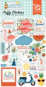 Summertime Puffy Stickers - Echo Park