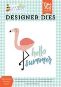 Hello Summer Flamingo Die Set - Summertime - Echo Park