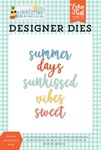 Sunkissed Summer Word Die Set - Summertime - Echo Park