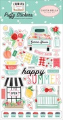 Summer Market Puffy Stickers - Carta Bella