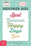 Best Summer Word Die Set - Summer Market - Carta Bella