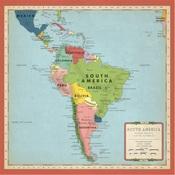 South America Map Paper - Cartography No.2 - Carta Bella
