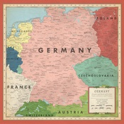 Germany Map Paper - Cartography No.2 - Carta Bella