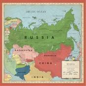 Russia Map Paper - Cartography No.2 - Carta Bella