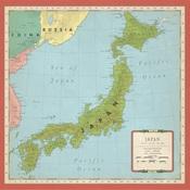 Japan Map Paper - Cartography No.2 - Carta Bella