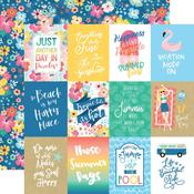 "Journaling 3""X4"" Cards Paper - Dive Into Summer - Echo Park - PRE ORDER"