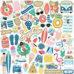 Dive Into Summer Element Stickers - Echo Park - PRE ORDER