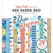 """Dive Into Summer 6""""X6"""" Paper Pad - Echo Park"""