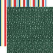Chalkboard Cursive Paper - School Days - Carta Bella - PRE ORDER