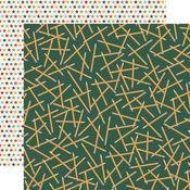 Scattered Pencils Paper - School Days - Carta Bella - PRE ORDER