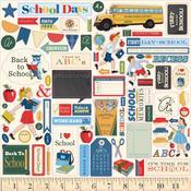 School Days Element Stickers - Carta Bella - PRE ORDER