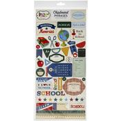 School Days Chipboard Phrases - Carta Bella - PRE ORDER