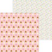 Sugar Cones Paper - Hey Cupcake - Doodlebug