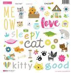 Chloe Chipboard Stickers - Bella Blvd