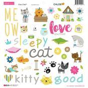 Chloe Chipboard Stickers - Bella Blvd - PRE ORDER