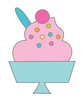 Sweet Sundae Enamel Pin - Hey Cupcake - Doodlebug - PRE ORDER