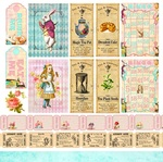 Party Tickets Paper - Alice's Tea Party - Memory-Place