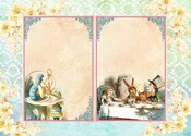 Alice's Tea Party #3 A4 Paper - Memory-Place - PRE ORDER