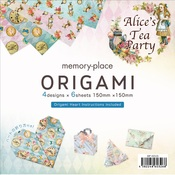 Alice's Tea Party Origami Papers - Memory-Place - PRE ORDER