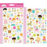 Hey Cupcake Icons Mini Stickers - Doodlebug