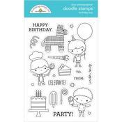Birthday Boy Doodlebug Clear Doodle Stamps