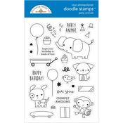 Party Animals Boy Doodlebug Clear Doodle Stamps