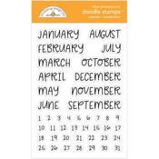 Calendar - Handwritten Stamps - Doodlebug - PRE ORDER