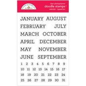 Calendar - Typewriter Stamps - Doodlebug - PRE ORDER